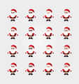 santa claus icon flat vector image