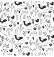 seamless floral romantic pattern with birds vector image vector image
