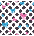 seamless striped pattern with bows vector image vector image