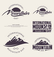 set abstract nature or outdoor mountain day vector image vector image