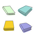 set of sketch books vector image vector image