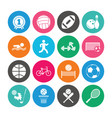 set of sport and fitness icons vector image