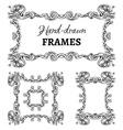 Set of vintage ornate frames vector image vector image