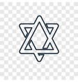 star of david concept linear icon isolated on vector image