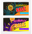 summer sale template banner set vector image