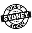 sydney black round grunge stamp vector image vector image