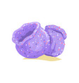 tropical purple tube sponge colorful aquarium vector image