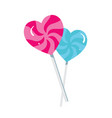 valentine day icon with lollipop in heart shape vector image