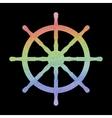 Watercolor ship wheel vector image