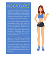 weight loss sport and diet vector image vector image