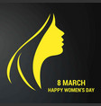 womens day typography card with pattern background vector image