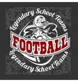 American football - Print for boy sportswear vector image