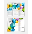 3d cubes brochure design vector image vector image