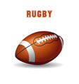 american football ball on white background rugby vector image vector image