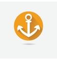 Anchor nautical symbol icon vector image vector image