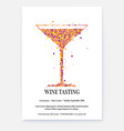 banner for wine festival poster for wine tasting vector image vector image