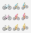 bike and cyclist vector image vector image