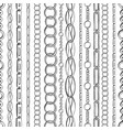 black chains ink pen seamless pattern include vector image