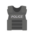 bullet proof vest police vector image vector image
