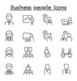 business people icons set in thin line style vector image vector image
