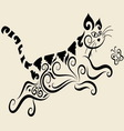 Cat ornament vector image vector image