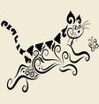 Cat ornament vector image