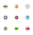 Click and selection icons set pop-art style vector image