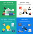 conceptual pictures of criminal justice vector image vector image