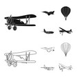 design of plane and transport sign vector image vector image