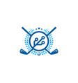 digital golf logo icon design vector image