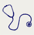 Doctors stethoscope vector image vector image