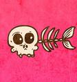 Fish Skeleton Cartoon vector image vector image