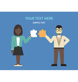 Flat design Two businessmans with puzzle C vector image