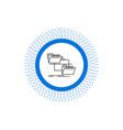 folder file management move copy line icon vector image vector image