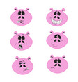 funny pink pigs vector image vector image