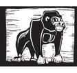 Gorilla Print vector image