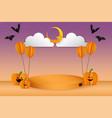 halloween concept podium display vector image vector image