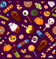 halloween sweets trick or treat seamless vector image vector image