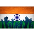 hand with voting sign of India vector image vector image