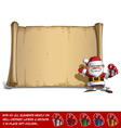 Happy Santa Scroll Salute with a Gifts vector image vector image