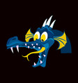 head of cartoon dragon with open mouse the head vector image vector image