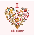Hipster sketch heart vector image vector image