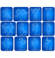 Horoscope signs kids set vector image vector image