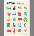 Hotel and service icons set drawn by color pencils vector image vector image