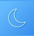 icon weather moon vector image