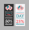 independence day usa banners vector image vector image