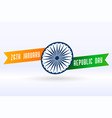 indian creative flag for republic day design vector image