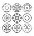 Industrial wheel design vector image vector image