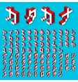 Katakana alphabet Isometric vector image vector image