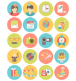 Kids Birthday Party Round Icons vector image